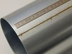 Laser longitudinal welding seam (t = 2 mm, galvanized mild steel)